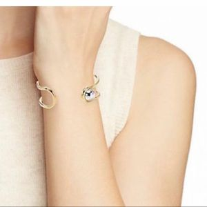 Marc Jacobs Safety Pin Cuff Bracelet Oro Argento